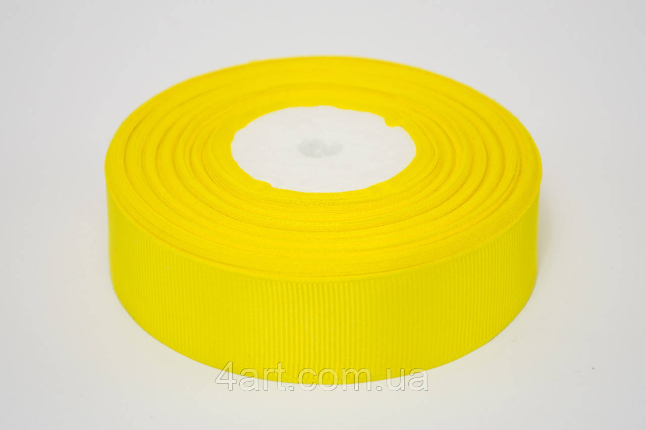 Лента репс 2.5 см, 23 м, № 15 желтый