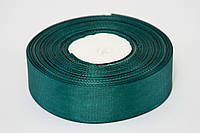 Лента репс 2.5 см, 23 м, № 49 темно зеленый