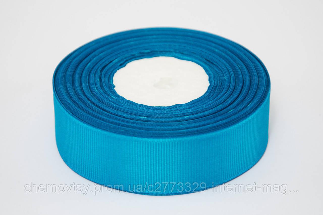 Лента репс 2.5 см, 23 м, № 47 ярко голубой