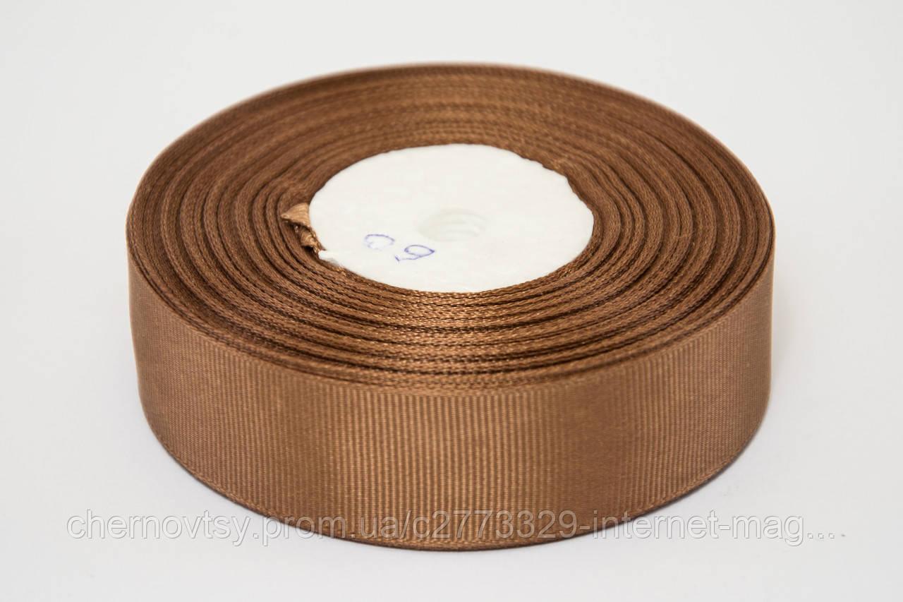 Лента репс 2.5 см, 23 м, № 60 коричневый