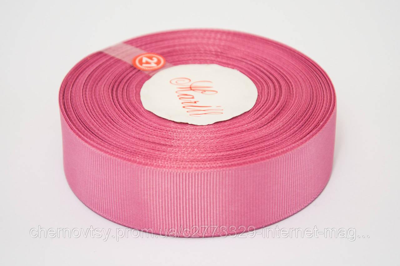 Лента репс 2.5 см, 23 м, № 256 розовато лилловый