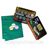 Набор для игры в покер на 200 фишек с номиналом