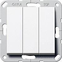 GIRA  283003 3-кл. S55 белый (90001275)