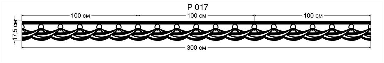 Ажурные ламбрекены-планки  P017