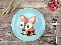 Детская тарелочка Striped fox / Полосатый Лис 20,5 см керамика