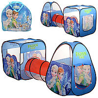 Детская игровая палатка с тонелелем Холодное сердце/Frozen М 3312