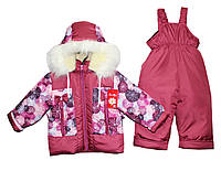 Комбинезоны детские зимние для девочки на овчине , фото 1