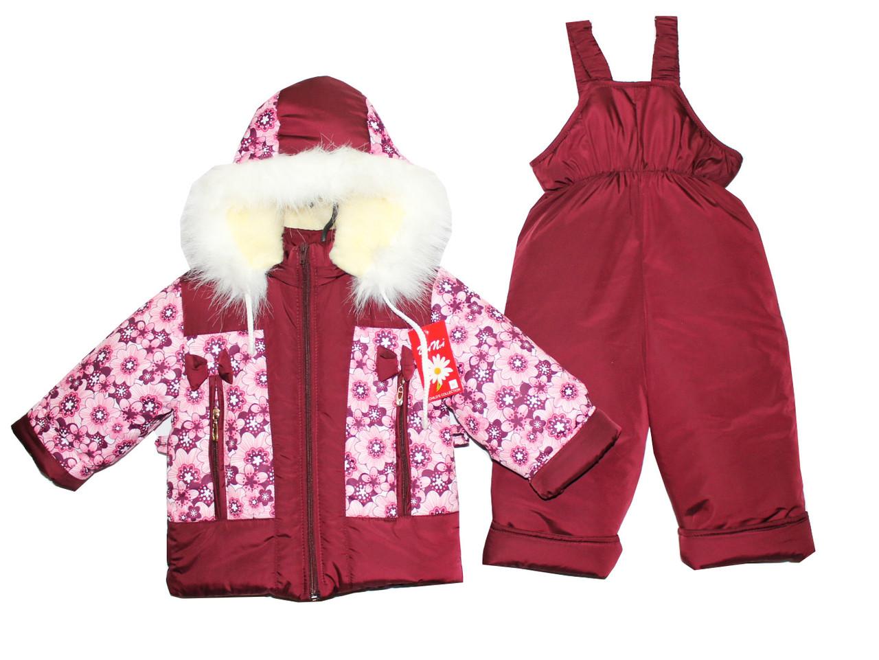 Комбинезоны детские зимние для девочки на овчине