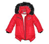 Пальто парка детская на зиму на овчине для девочки HL 202, фото 1