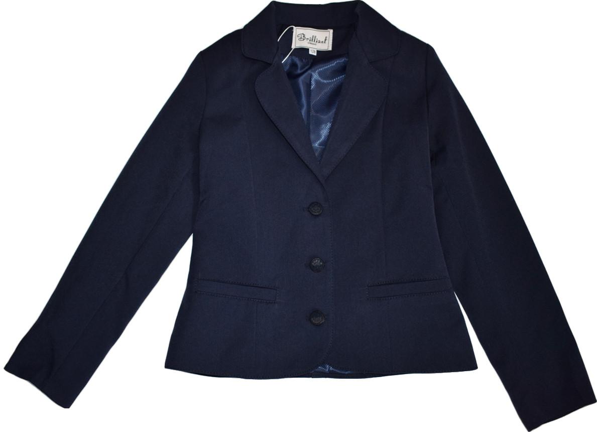 Жакет школьный для девочки Nadin ТМ Newpoint синий размеры 158