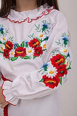 Ніжна вишита блуза для дівчинки, фото 3