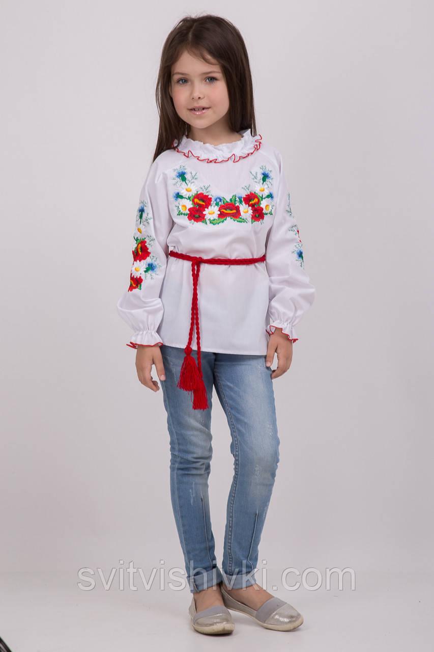 Ніжна вишита блуза для дівчинки