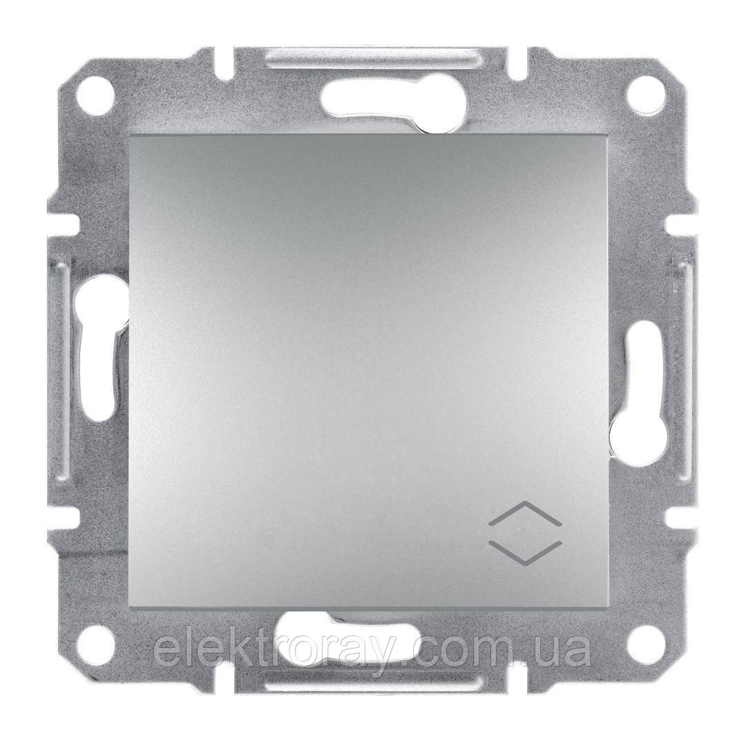 Проходной выключатель Schneider Asfora Plus алюминий