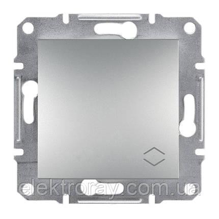 Проходной выключатель Schneider Asfora Plus алюминий, фото 2