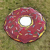 Пляжный коврик Пончик.2,d 145 см.(шоколадный)