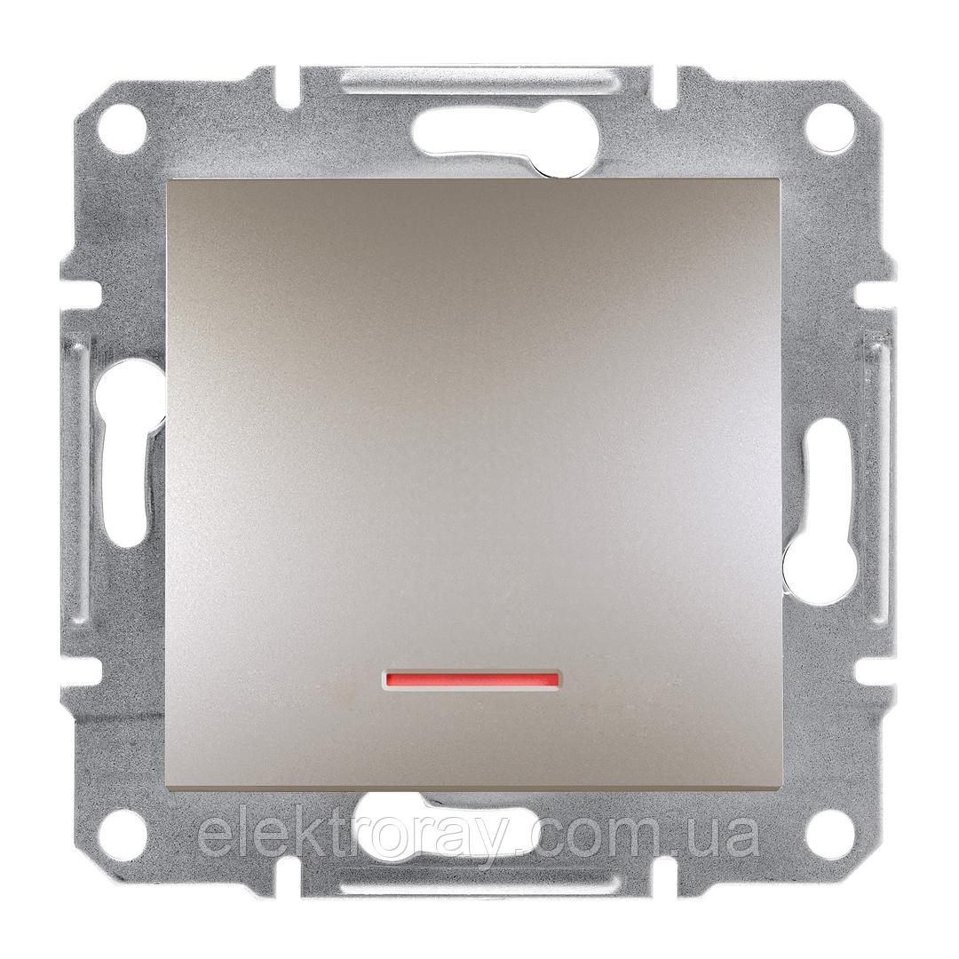 Выключатель с подсветкой Schneider Asfora Plus бронза