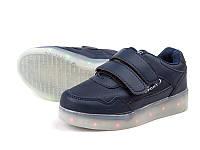 Стильные кроссовки с подсветкой((USB)  для мальчика  р26-31