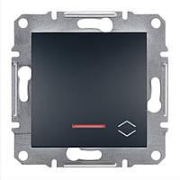 Проходной выключатель с подсветкой Schneider Asfora Plus антрацит