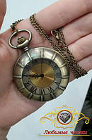 """Часы карманные на цепочке """"Большие римские цифры""""."""