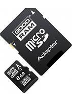 Карта памяти micro SD Goodram 8 Gb class 4 + SD adapter