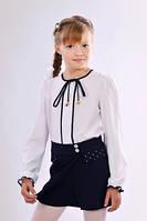 Стильные детские школьные шорты-юбка на запах