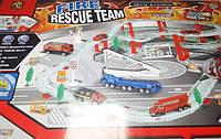 Набор пожарная станция Авто-трек с машинками металл