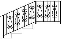 Перила для лестниц металлические