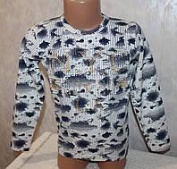 Детская одежда оптом.Кофта на мальчика  (объемный рисунок) 5,6,7,8 лет