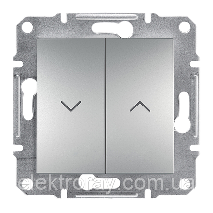 Выключатель для жалюзи Schneider Asfora Plus алюминий, фото 2