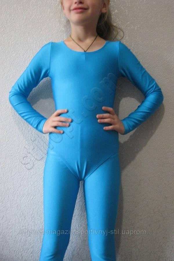 Купальник  бифлекс подросток голубой