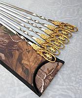 Шампуры Вепрь набор шампуров в чехле из плотной ткани 6шт