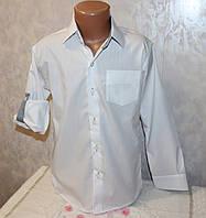 Школьная рубашка на мальчика (рукав трансформер) 4-5,6-7,8-9,9-10 лет