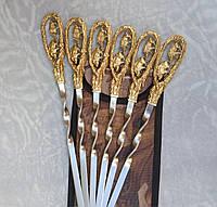 Подарочный набор шампуров Семья на Прогулке в чехле из плотной ткани 6шт