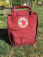 Рюкзак Fjallraven Kanken Classic Bag bordo. Рефлективное лого.  Живое фото. Качество Топ!