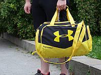 Спортивна Сумка Under Armour желтая с черным. Живое фото