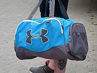 Спортивна Сумка Under Armour голубая с серым. Живое фото