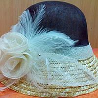Шляпы RABIONEK из  шерсти с цветком, темно коричневый цвет, фото 1