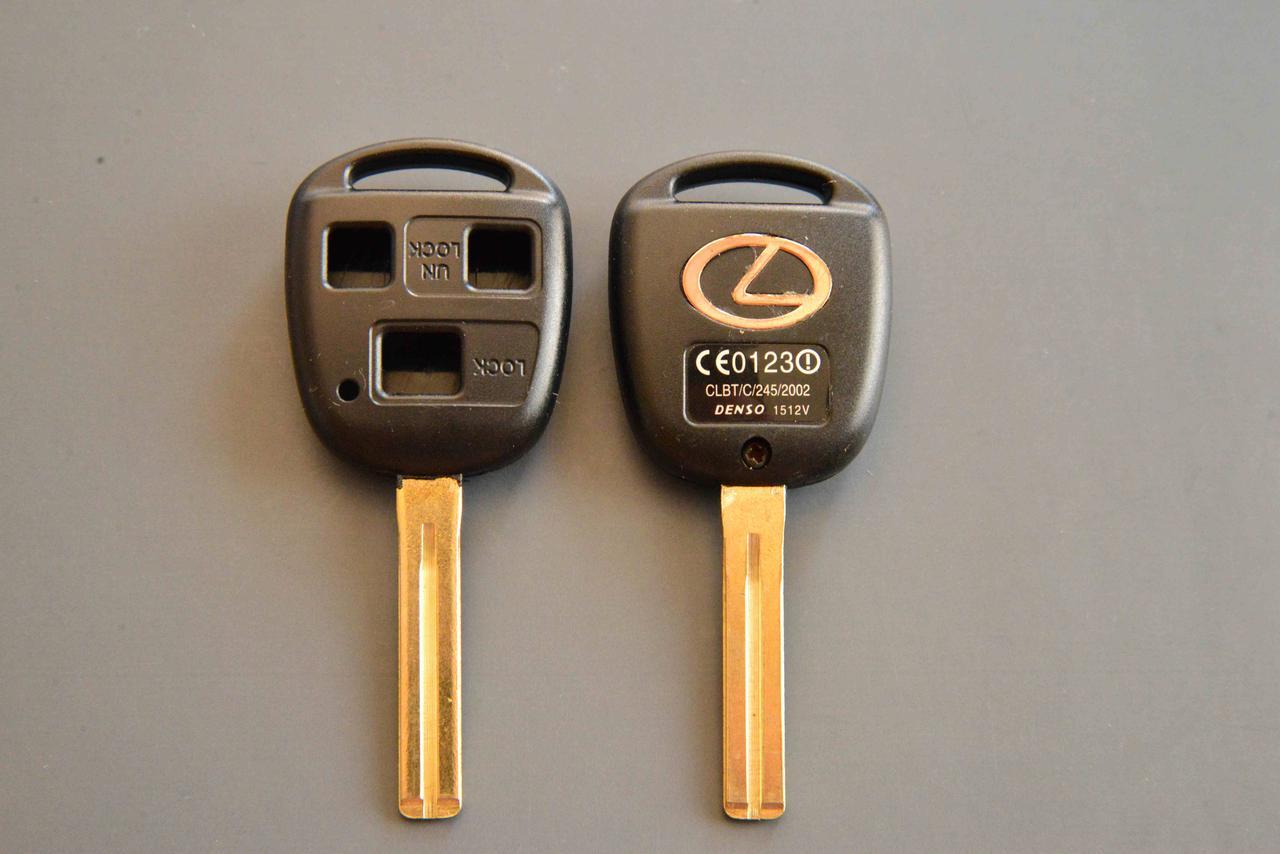 Корпус для ключа LEXUS (Лексус) 3 - кнопки, лезвие TOY48