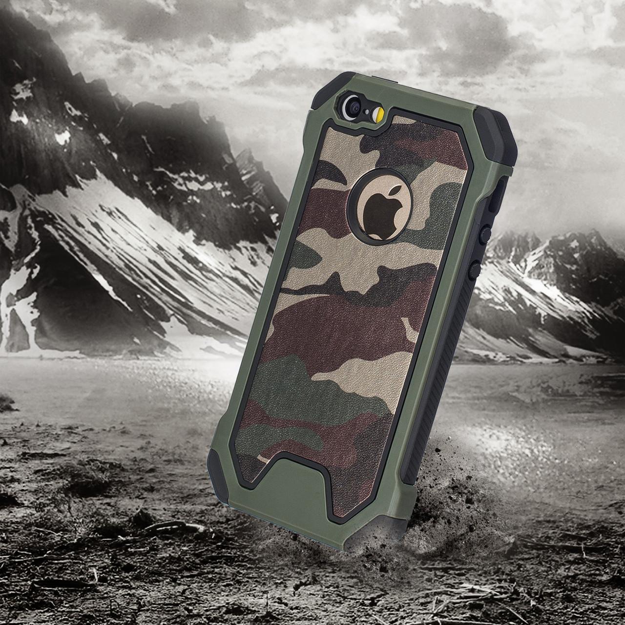 Протиударний бампер PRIMO для Apple iPhone 5 / 5S - Green Camouflage