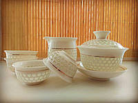 """Набор фарфоровой посуды для чайной церемонии """"Ирис"""""""