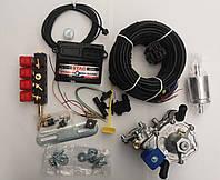Миникомплект ГБО 4 поколения Stag Q-Box Basic, редуктор tomasetto AT09 Alaska, форсунки Valtek, фильтр 12х12.