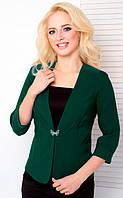 Женский пиджак с рукавом 3\4 1026 зеленый