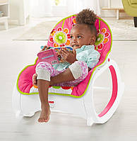 Fisher Price Кресло качалка с вибрацией шезлонг Цветочные конфетти Infant t