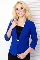 Женский пиджак с рукавом 3\4 1026 электрик