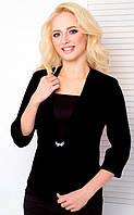 Женский пиджак с рукавом 3\4 1026 черный