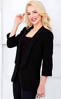 Женский пиджак классический с рукавом 3/4 1029 черный