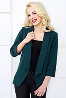 Женский пиджак классический с рукавом 3/4 1029 темно-зеленый