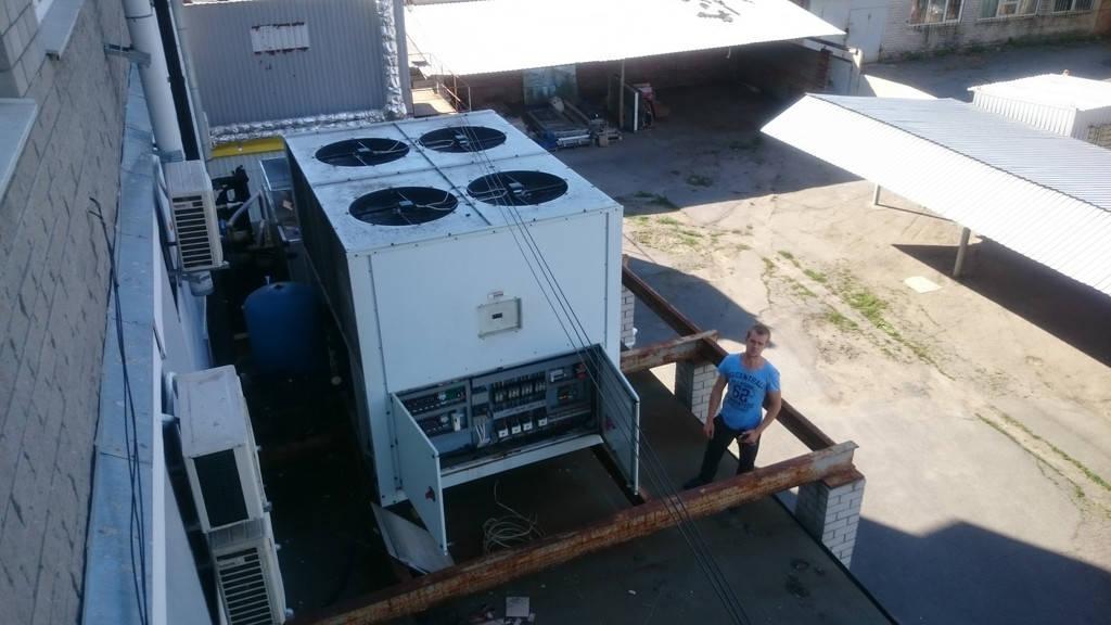 Чиллер для системы централизированного кондиционирования Ferroli 205 кВт .