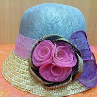 Шляпка женская натуральная солома синамей, фото 1