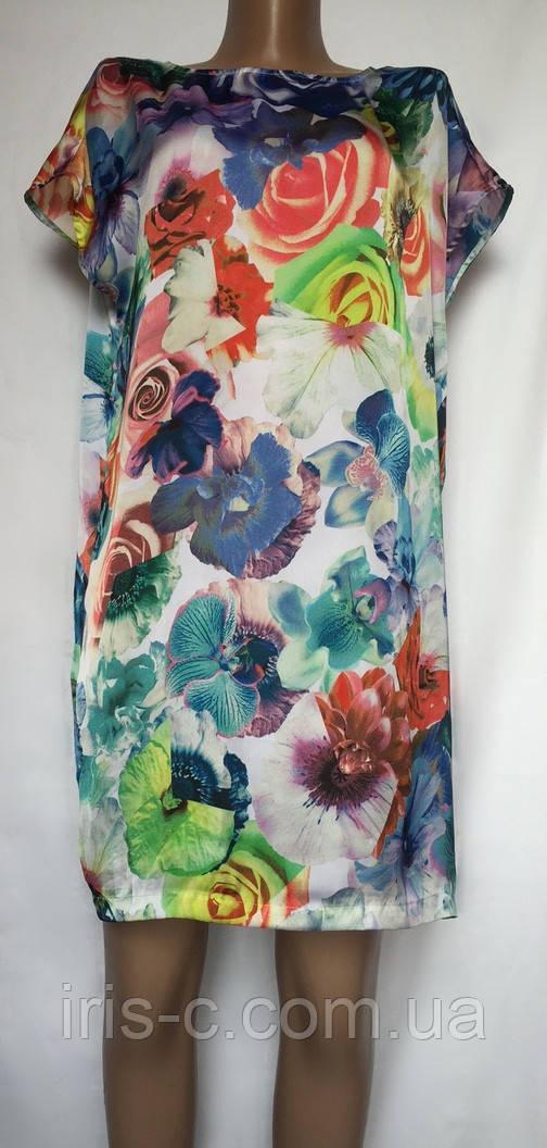 Платье шелковое цветное размер S/M